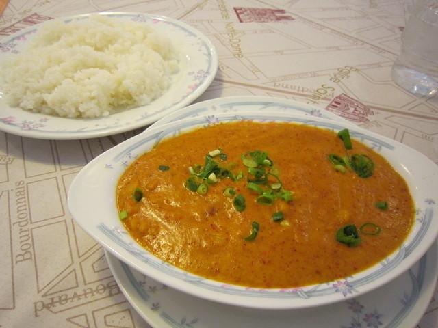 インド料理 ドルーガ 3号店 - Aランチ・豆カレー&ライス♪