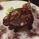 33239961 - 【ディナー】スペシャルチョコパンケーキ(1,080円)