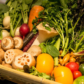 無農薬野菜や有機イタリア野菜が豊富