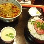 京成友膳 - ネギとろ丼とたぬきセット