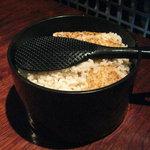 萌のとき - 鉄釜炊き三分搗きのご飯