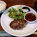 KITORA STEAK&SEAFOOD - きとら珈琲 @西葛西 Aセット 牛ハンバーグステーキ 980円(税込)