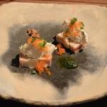 O・mo・ya - 2014/12 海老芋のテリーヌ(鱈のサラダ添え) ランチコース B 3,500円