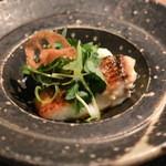 o・mo・ya - 2014/12 鯛のポワレ(白菜のクリームソース) ランチコース B 3,500円