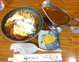 元祖インドカレー 小いけ - カツ丼_850円、カレーソース_380円
