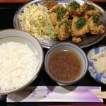 満天堂 - 唐揚げ(のりしお)定食(12/6追加)