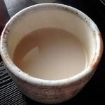 小坂 芳春庵 - 三色せいろ1,150円(蕎麦湯)