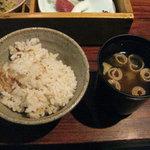 萌のとき - ご飯と味噌汁