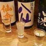 33250461 - 本日の純米酒三種呑み比べ  600円