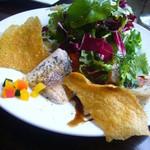 ヴィア・デル・ボルゴ - 前菜5種(鶏肉のロトーロ、鰯のマリネ、秋茄子の羊羹、カポナータ、野菜サラダ)
