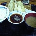 万平 - てんぷら定食(¥600)7/25/2007