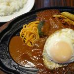 光陽軒 - 料理写真:2012年9月 ハンバーグステーキ+ライス【790円+170円】