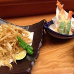 大名茶家 - 小エビと蟹の天ぷら