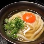 柔製麺 - 蘭王月見うどん 490円