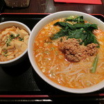 東方一角 - 担々麺+ミニ麻婆豆腐丼