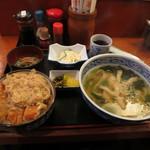 めん坊 - カツ丼定食 700円