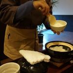 禅紫 - 14.12土釜で提供される、美味しいご飯(禅コース)