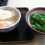 どんどん - 料理写真:天ぷらうどんに玉子トッピング