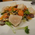 トラットリア・クオーレ - 2014.12 前菜:ホタテのソテー2種類のソース