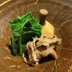 潤菜 どうしん - くわいの肉じゃが風。山椒の風味がいい。