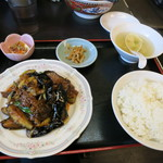 33275281 - ラムと茄子のピリ辛炒め