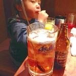 大衆酒場 ちばチャン - 料理写真:父子二人で、 ホッピーバカ盛を 飲みながら語り合う。
