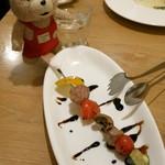 トラットリア リアナ 新百合ヶ丘店 - ラム肉とお野菜の串焼き 340円(税込)