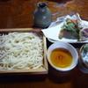 手打そば なかむら - 料理写真:板そばと麦切の相盛 天ぷら付き 1300円