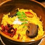 すっぽん鍋 鱧料理 三栄 - 冬三昧コース(蒸し寿司)
