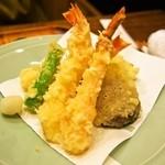 すっぽん鍋 鱧料理 三栄 - 娘用 天ぷら盛り合わせ