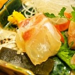 すっぽん鍋 鱧料理 三栄 - 冬三昧コース(鯛の昆布〆)