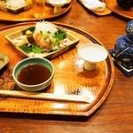 すっぽん鍋 鱧料理 三栄 - 冬三昧コース(ぐじの細造り&鯛の昆布〆)