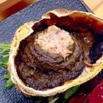 宝鮨 - 蟹味噌甲羅焼き