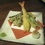 田楽 - 定食の天ぷら