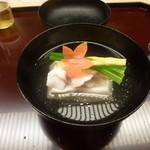 33293871 - お椀(甘鯛、胡麻豆腐)