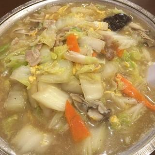 中国料理 蘭州 - 冬の定番、カキそばがメニューに復活したので、早速いただきました。カキたっぷり、ボリューム満点で満足です。ご馳走様でした。