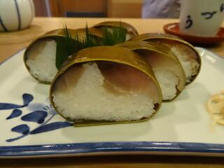 いづう - 鯖姿寿司(2430円)