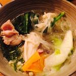 博多中洲ぢどり屋 - 水炊き食べたら、コラーゲンたっぷり摂れて翌日お肌がぷるぷるでした♡