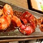 太樹苑 - ホルモン三種盛り(味噌)
