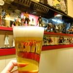 道頓堀ゼロカフェ - ワンピース達とスーパードライ:390円