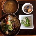 adito - 大人様定食(小柱紫蘇バター野菜丼)