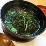魚菜料理 赤井 - だし茶漬け。