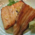 魚菜料理 赤井 - この店のスペシャリテの・煮アナゴ炙り。
