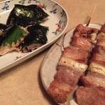 焼鶏館 - 納豆ささみ焼き&豚精