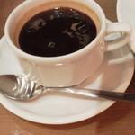 カフェ&ブックス ビブリオテーク - ドリンク付きにしたのでコーヒーを