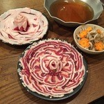 活麺富蔵 - 紅白の牡丹鍋