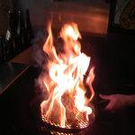 ミスターチキン - 「地鶏もも焼き」がファイヤー