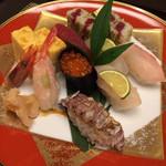 sute-kihausuminami - ご無理言って出してもらったお寿司(-^w^-)