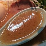 いとし家 - あご塩味玉ラーメン、スープ