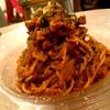 自家製大豆ミートソースの菜食ボロネーゼスパゲッティ